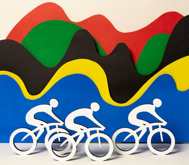 Paper style cycling competition