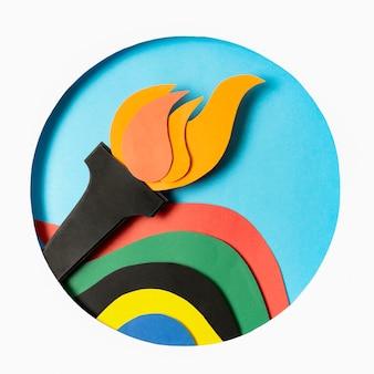 Disposizione delle olimpiadi di carta