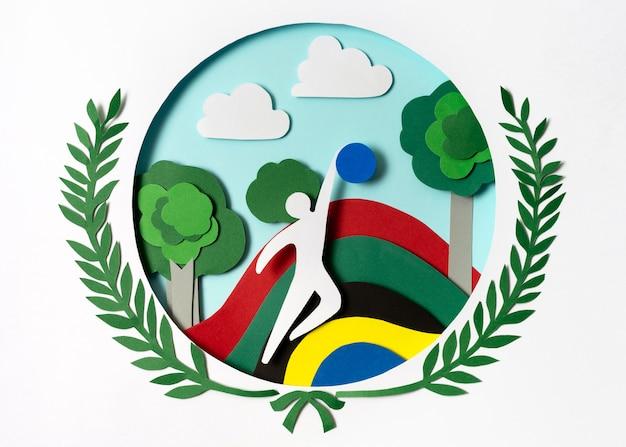 Assortimento di giochi olimpici in carta