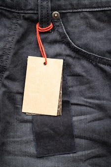 Paper tag on pants