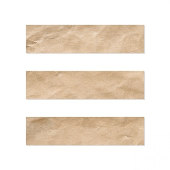 Paper tag set. close up of a piece of note paper on a white background.