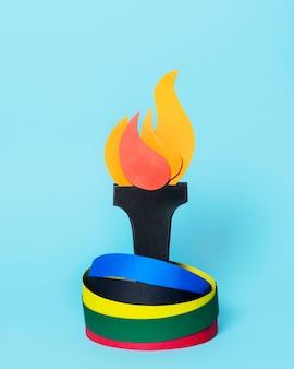 종이 스타일 올림픽 모양의 구성