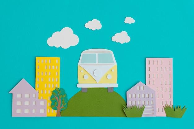 紙の都市交通機関の手配