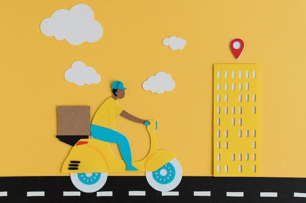 Бумажный состав городского транспорта