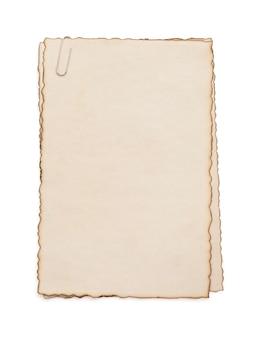 白で隔離紙ヴィンテージ羊皮紙
