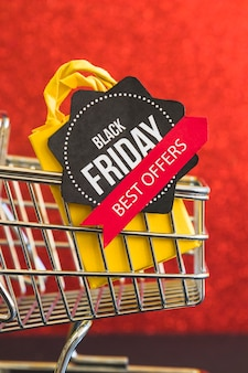 Paper with black friday best offers inscription