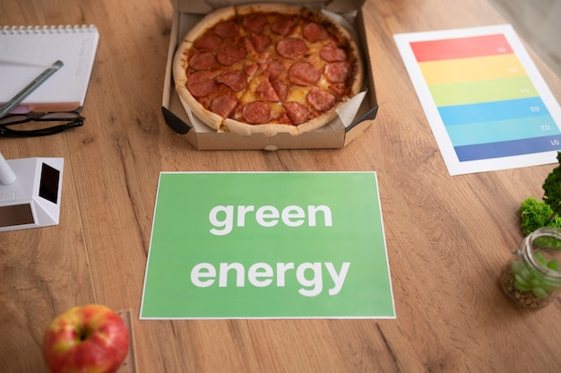 Paper with green energy