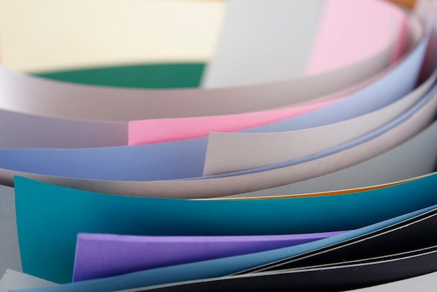 Papers with vivid, light, pastel colors. colourful texture abstract full frame image style.