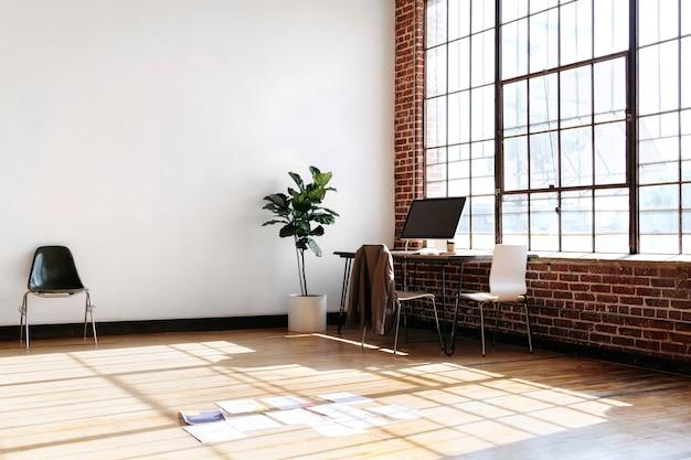 Paperwork on wooden floor in the office