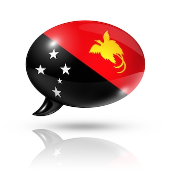 Papua new guinea flag speech bubble