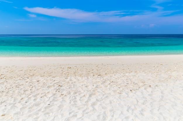 Paradise beach and the blue sky at khai island in satun province, thailand