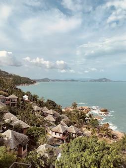 Paradise coastline view