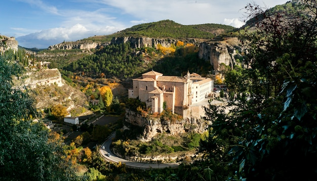 Parador in the old convent of st paul in town of cuenca in castilla-la mancha, spain, europe, is world heritage by unesco