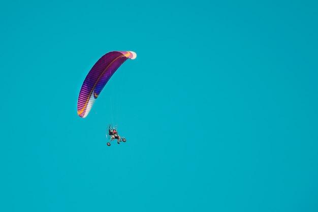 Полет на параплане с парашютом
