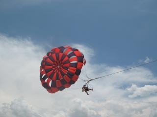 Paragliding, fly
