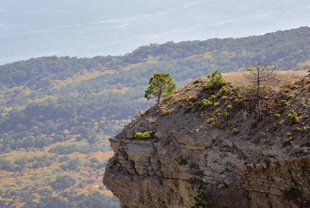 クリミア半島の山々をパラグライダー