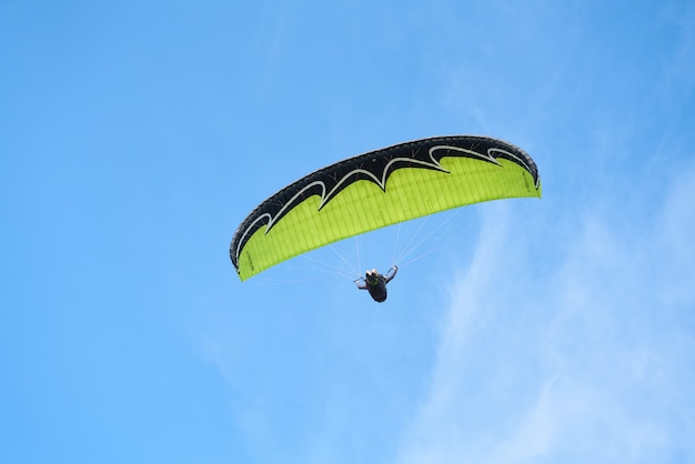 Paragliding and sky