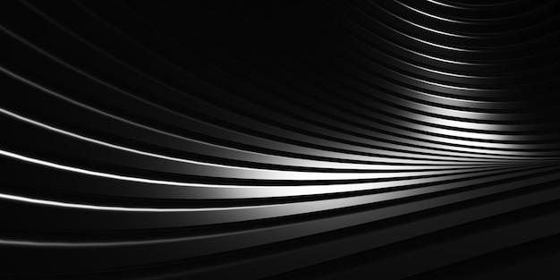平行線黒いプラスチックチューブのテクスチャ黒い曲線の歪んだ形状