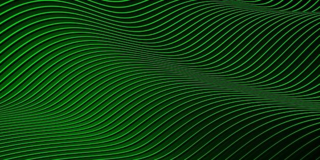평행선 왜곡 된 모양 곡선 플라스틱 튜브 표면 현대 추상 3d