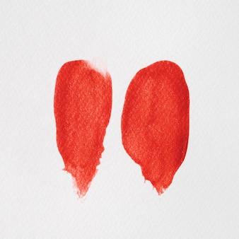 赤いペンキの平行な太い線
