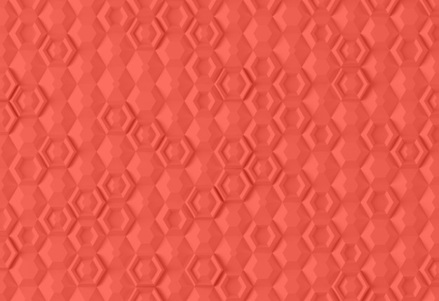 Parametric digital texture based on hexagonal grid with different volume. 3d rendering