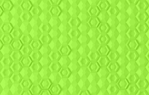 Parametric digital texture based on hexagonal grid with different volume and internal pattern 3d illustration
