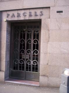 Parcels entrance