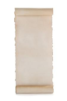 白で隔離の羊皮紙の巻物