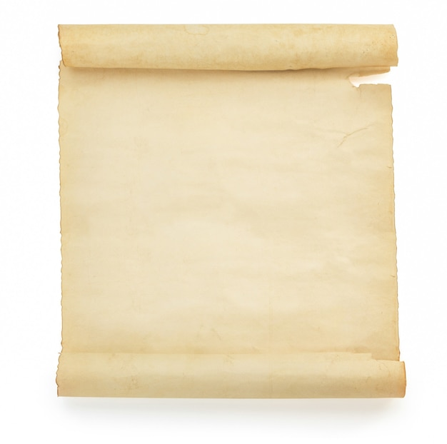 Пергаментный свиток изолирован