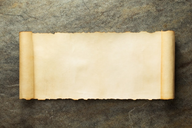 Parchment scroll at old