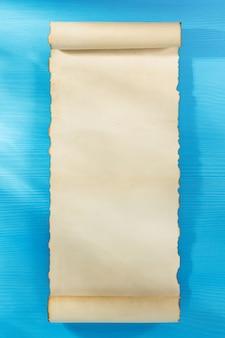 木製の羊皮紙の巻物
