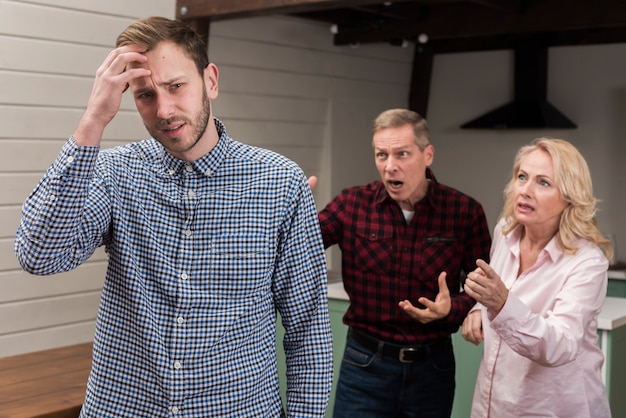 Parents angry at clueless son
