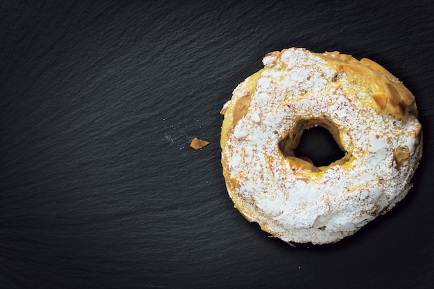 Paris brest famous french dessert sweet round pastry