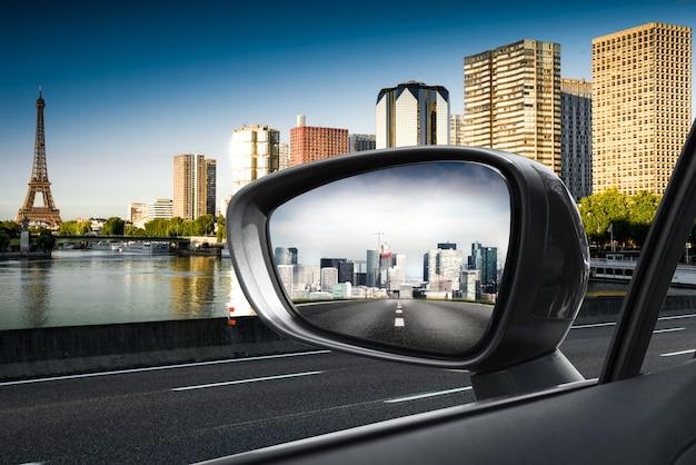 Paris in a rearview mirror