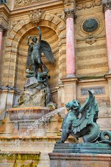 Paris saint michel fontaine france