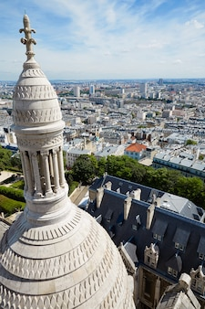 Paris skyline and sacre coeur in montmartre