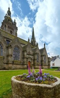 The parish of saint-thegonnec brittany, france. spring view.