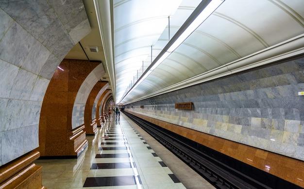 모스크바 지하철 러시아 연방의 공원 pobedy 역