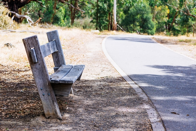 Park roadside benches