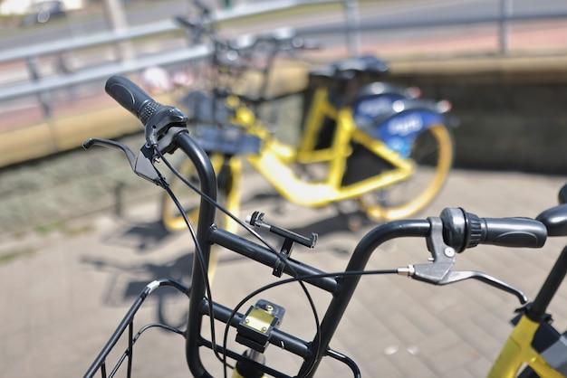 シティバイクレンタル用駐車場観光客用自転車レンタル