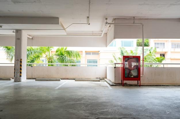 Parking garage department store interior empty parking lot or garage interior business building office