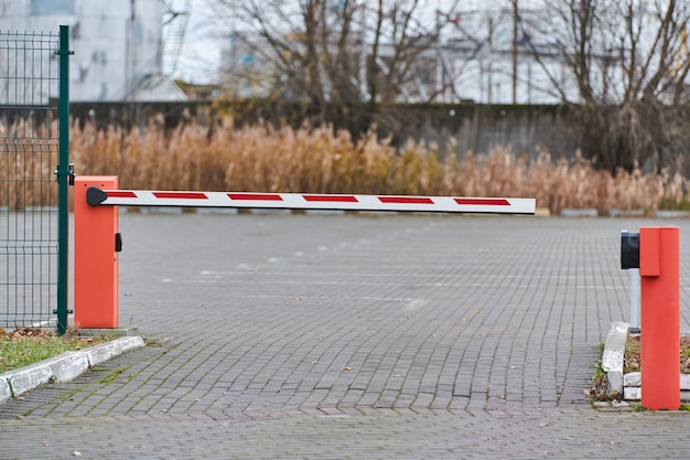 Parking gate, automatic car barrier system for car-park security