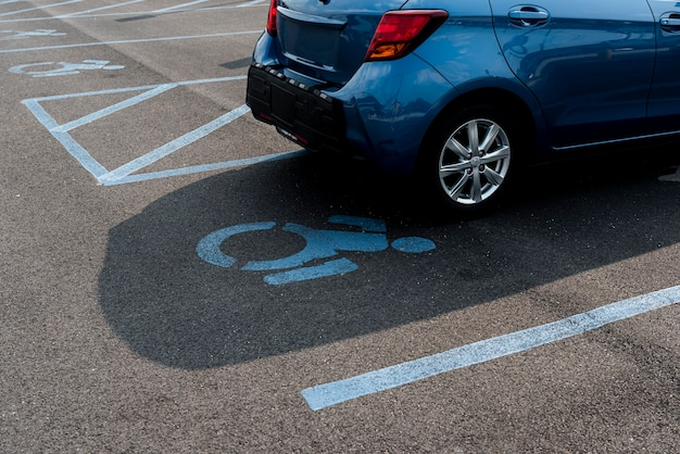 Parking spot for disabled people