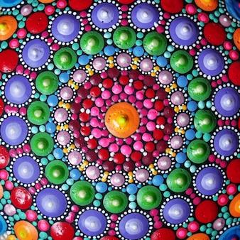 Part of beautiful mandala hand painted background