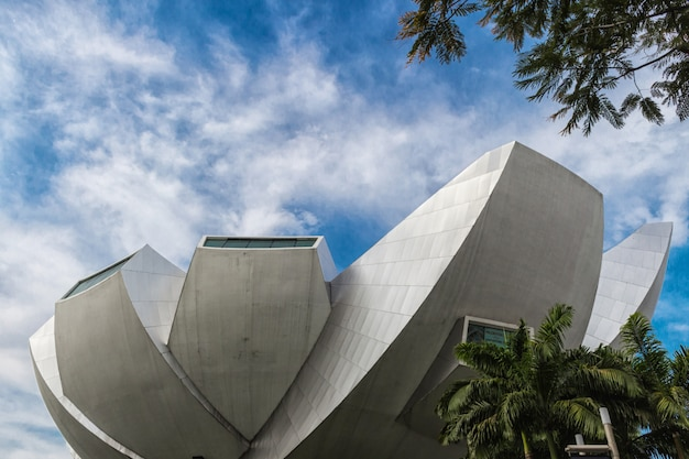 Part of modern futuristic building