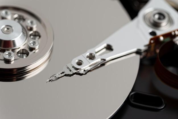 Часть крупного плана жесткого диска