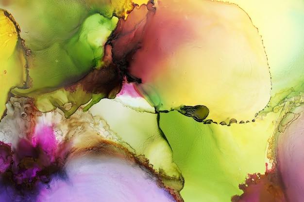 元のアルコール水墨画、抽象的な背景の一部