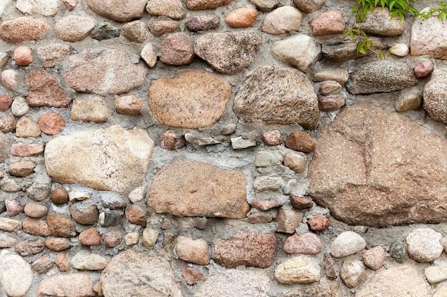 古い建物の壁の一部、石で作られた要塞