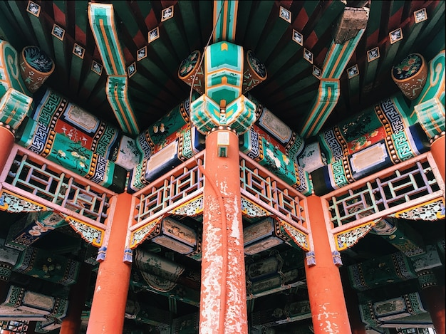 Часть орнамента традиционного китайского здания