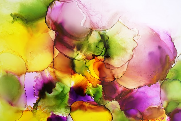 Part of original alcohol ink painting, abstract background